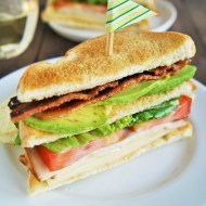 Candied Bacon Avocado Club Sandwiches