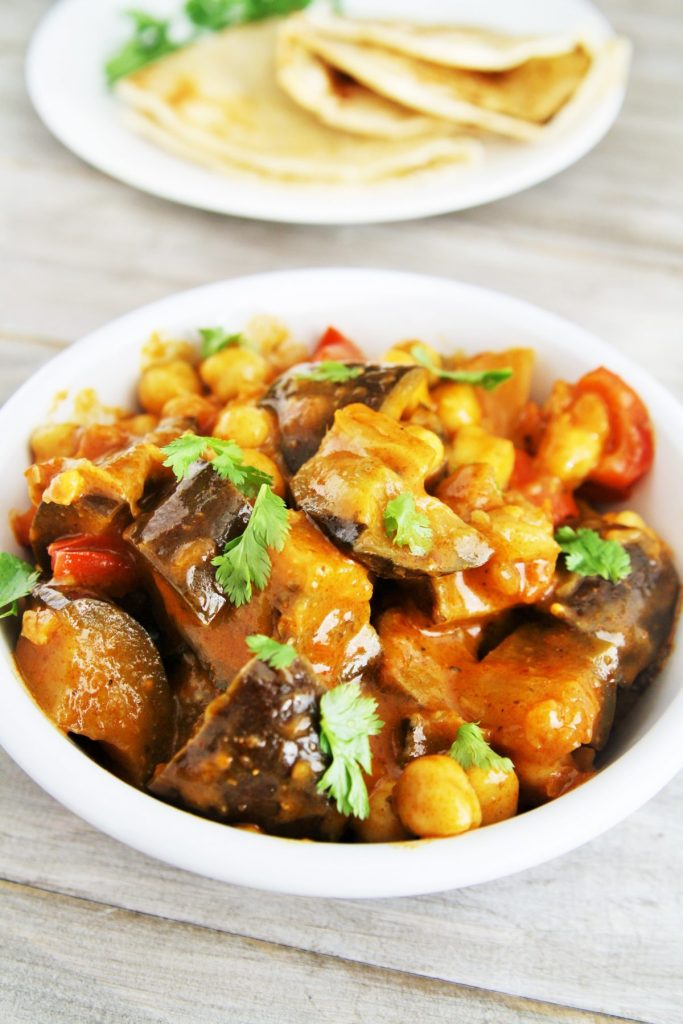 Eggplant chickpea tikka masala the tasty bite i love to trying new recipes and lately ive been experimenting with indian inspired recipes especially curry those bold flavors the combination of forumfinder Images