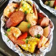 Cajun Sausage and Shrimp Boil Foil Packets