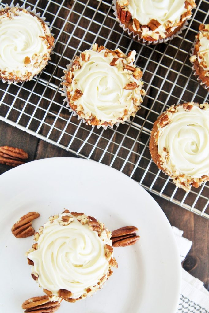 Made with banana, crushed pineapple, coconut and pecans, these Classic Hummingbird Cupcakes are moist, flavorful, and scrumptious.