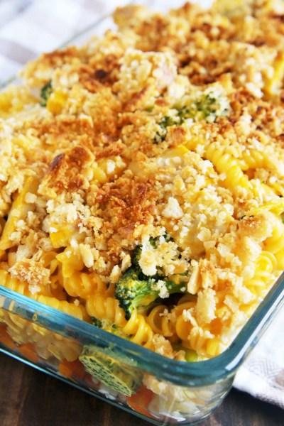 Cheesy Turkey Noodle Casserole