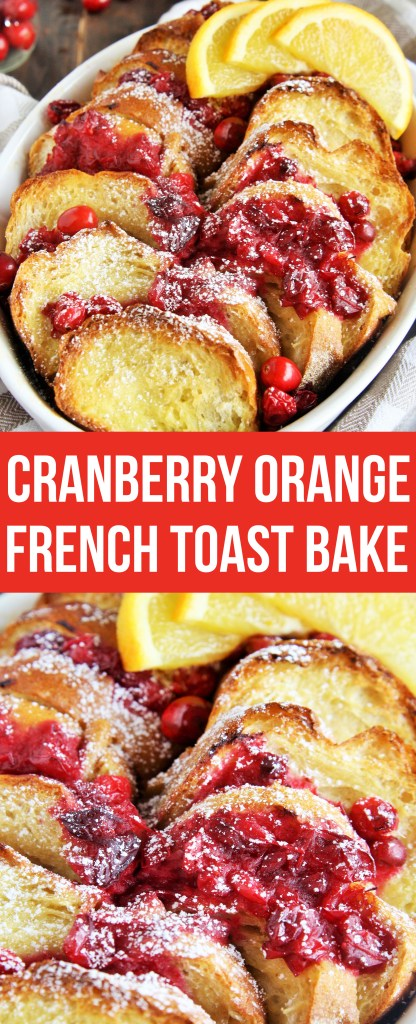 Wake up to this delicious Cranberry Orange French Toast Bake, a festive overnight breakfast casserole perfect for holiday morning!