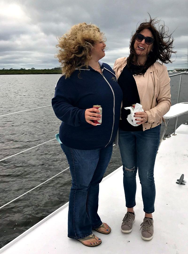 windy boat ride