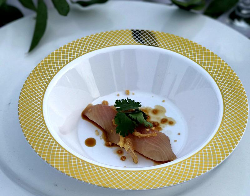 Starlight Supper hamachi sashimi