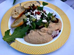 Museum Cafe hummus salad