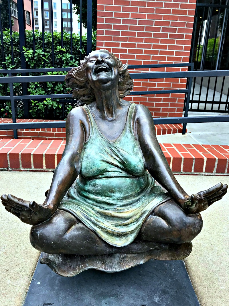 Laughing Sally statue Little Rock