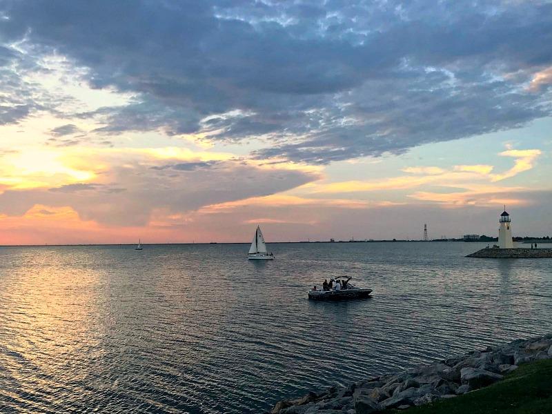 Lake Hefner sunset