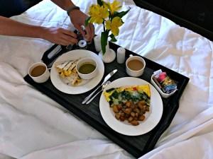 Royal Sonesta breakfast in bed