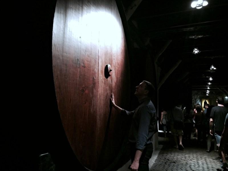 inside a port wine cellar