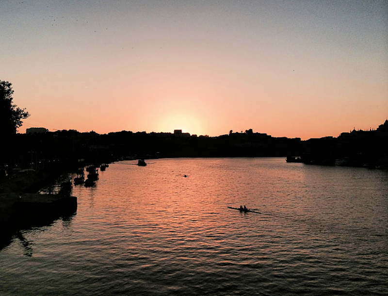 sunset over the Douro River