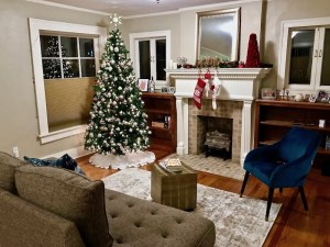 Holiday Decorations living room