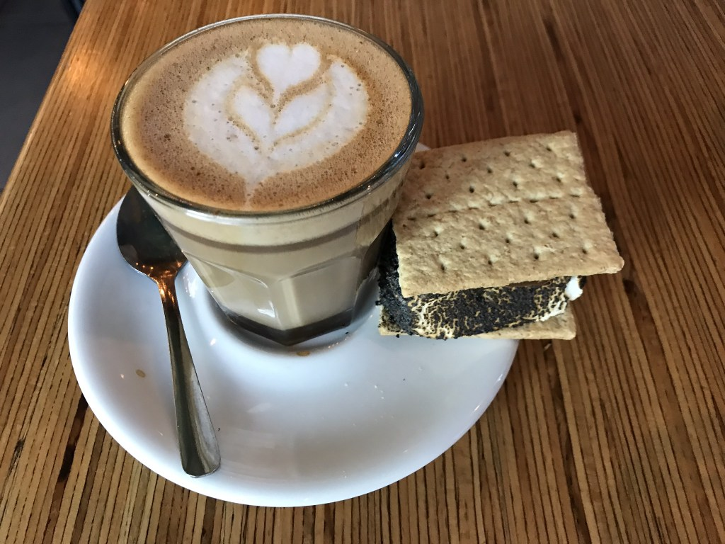 Cafe Kacao Nutella Cortado with s'more