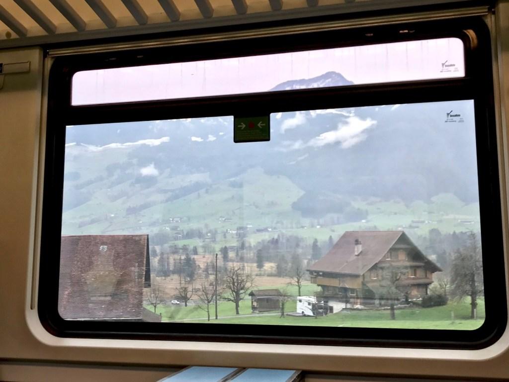 Train ride from Zurich to Lugano