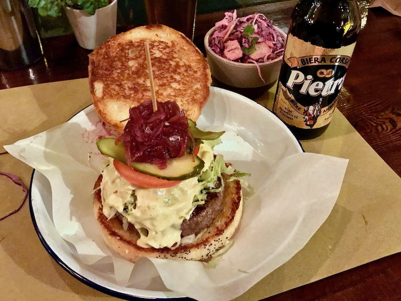burger at la fermata lugano switzerland