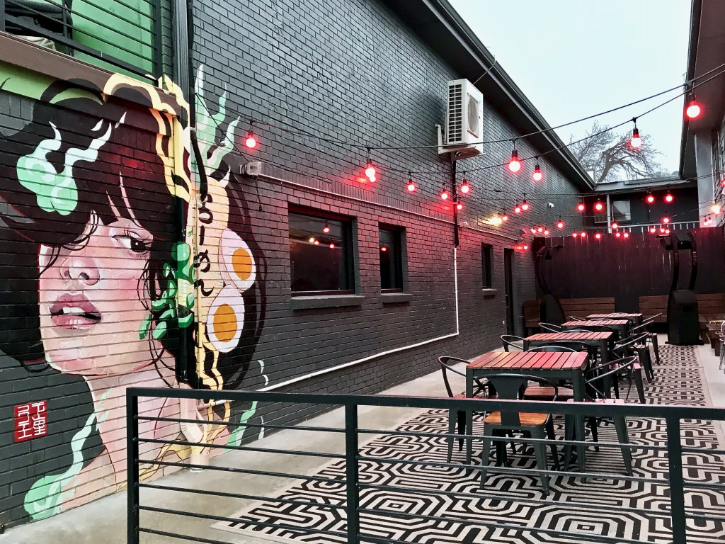 Goro Ramen OKC mural and patio