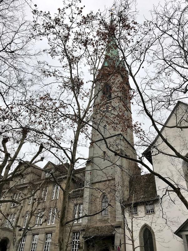 Zurich church tower