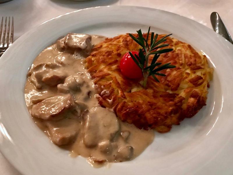 Da Capo Zurich veal dish