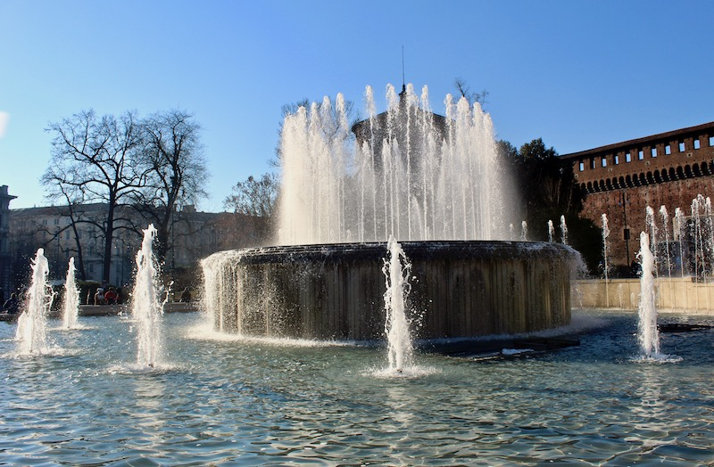 Sforza Castle fountain