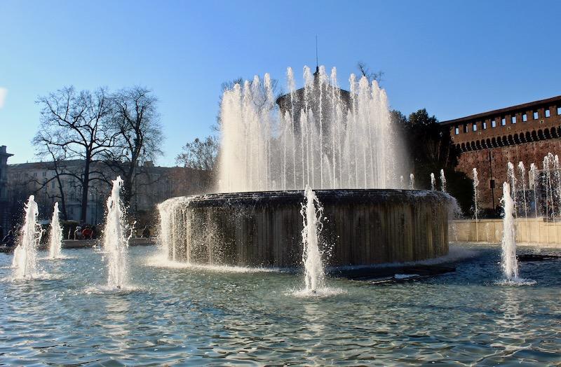 Sforza Castle fountain