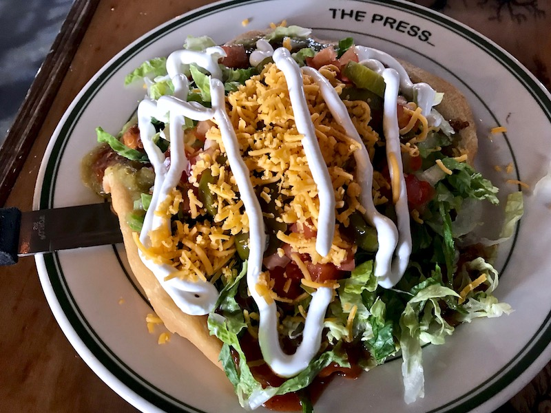 Indian taco the press okc