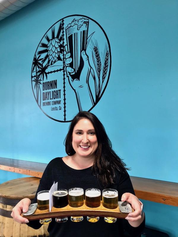Kacy at burnin daylight brewery