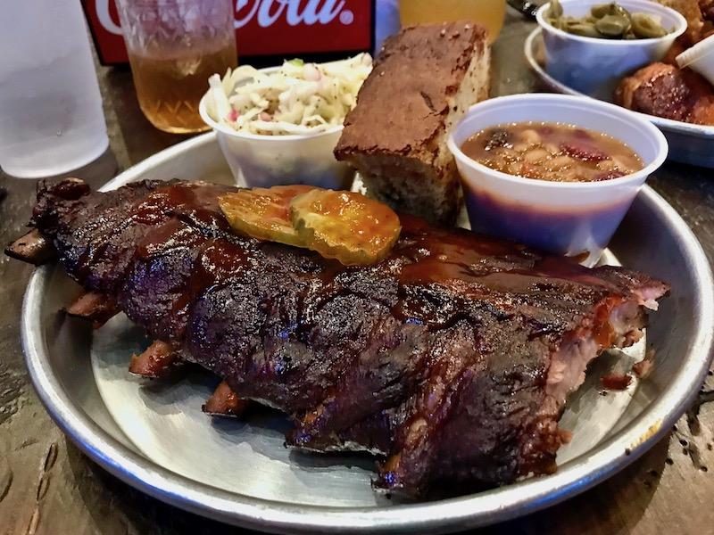 Edley's Bar-B-Que Nashville Restaurants Half Rack of Ribs