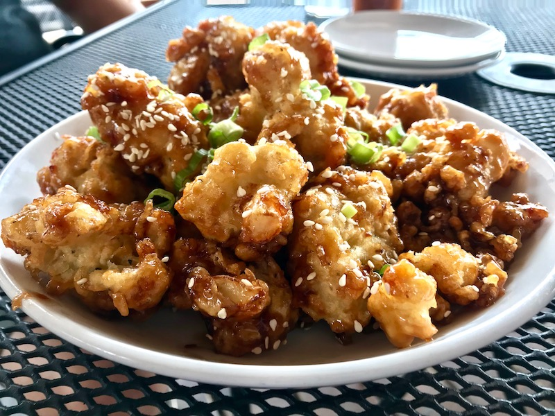 South of Beale General Tso's cauliflower