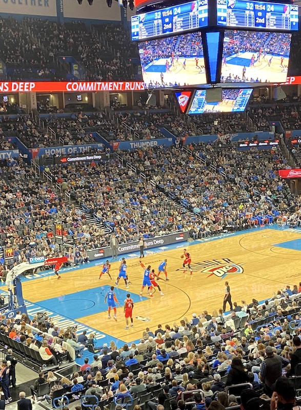 Thunder vs. Portland January 2020