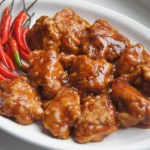 General Gau's Chicken plated