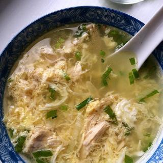 Warm and soothing egg drop soup