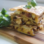 So smoky & good! Chicken & Bacon Quesadillas