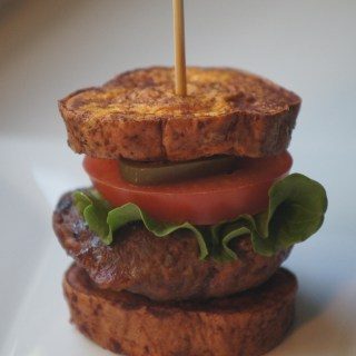 Bacon Burger with Sweet Potato Bun
