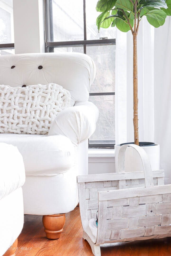 Welcome Home Saturday: How to lime wash a basket