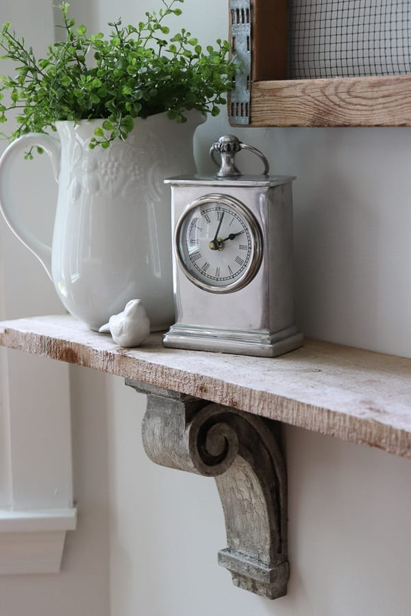The easy way to make new corbels look old.