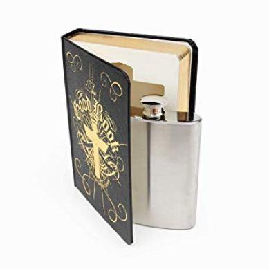 Good Book hip flask