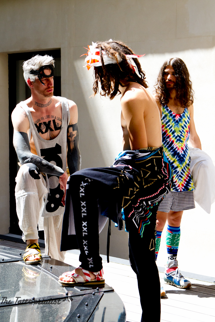 Tattooed Model Bernhard Willhelm Fashion-Week-the-tattoorialist
