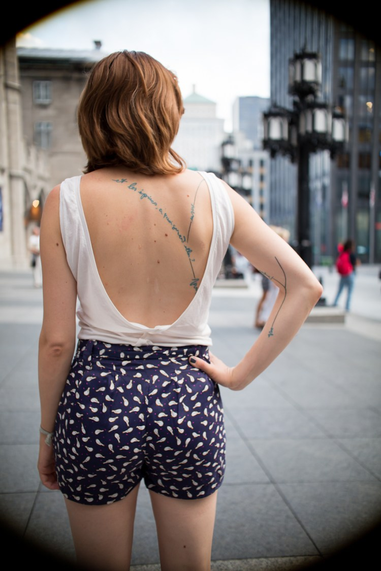 girl with tattoo by La Gueuse from Bodyfikation photo by Nicolas Brulez aka The Tattoorialist
