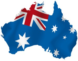 Aust flag map