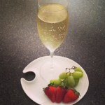 Champers and fruit