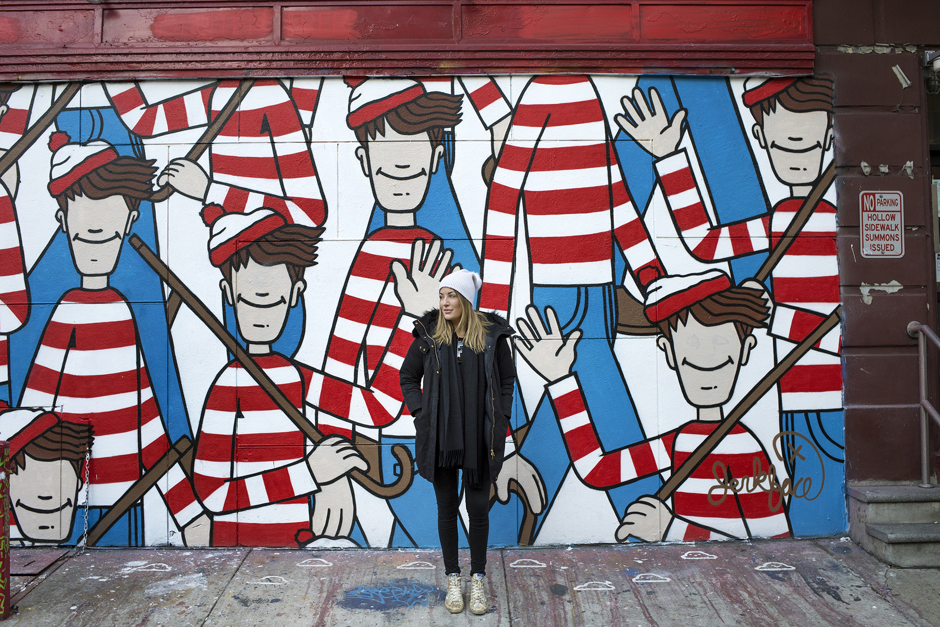 Where's Wally Street Art Incarcerated Jerkface L'asso Pizza Nolita New York City