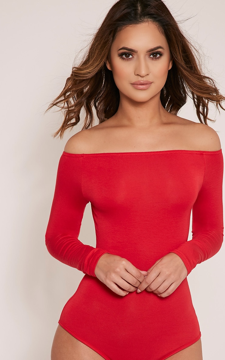 Pretty Little Thing red bodysuit