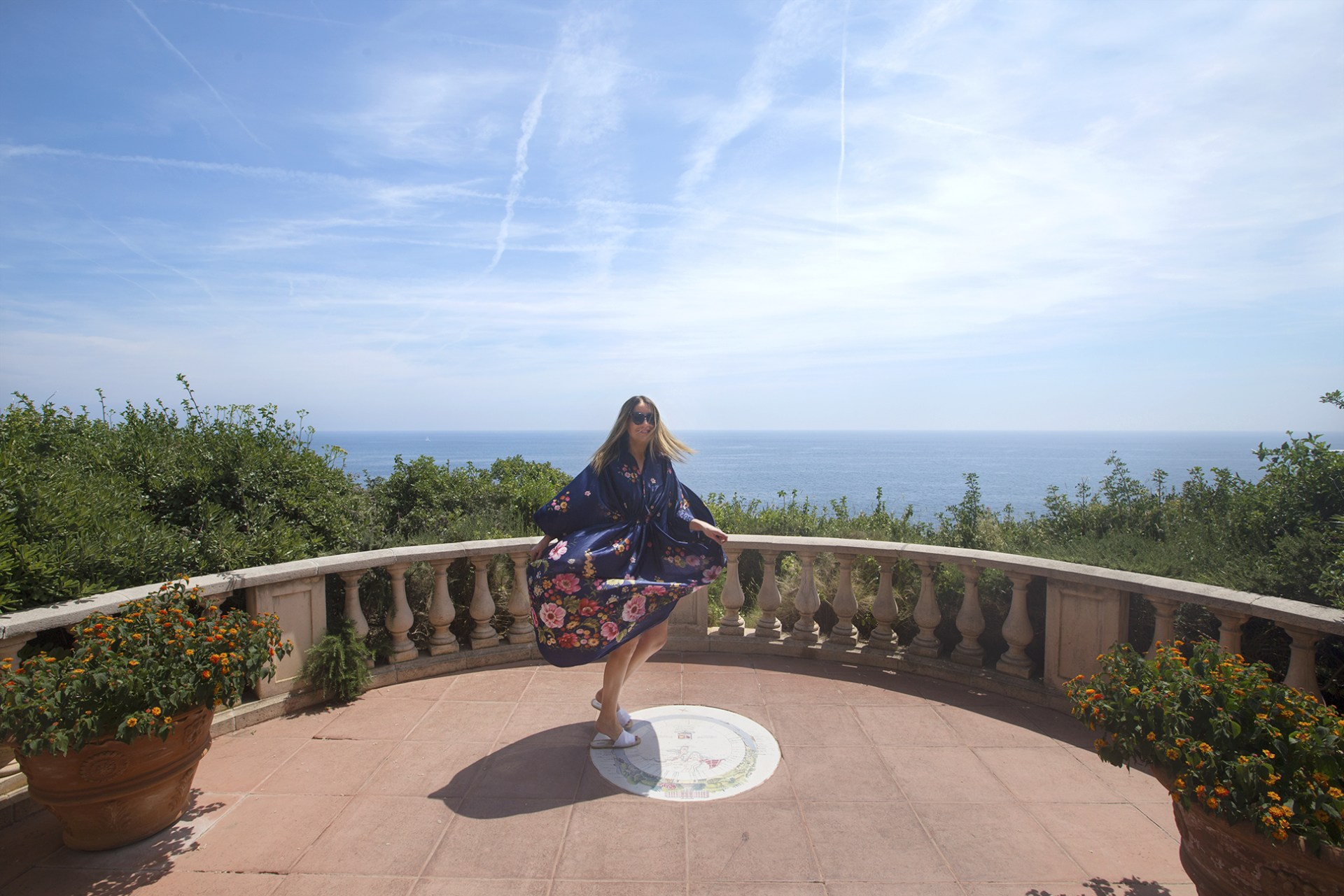 Gardens on the Mediterranean Sea on the French Riviera at Grand Hotel Du Cap Ferrat