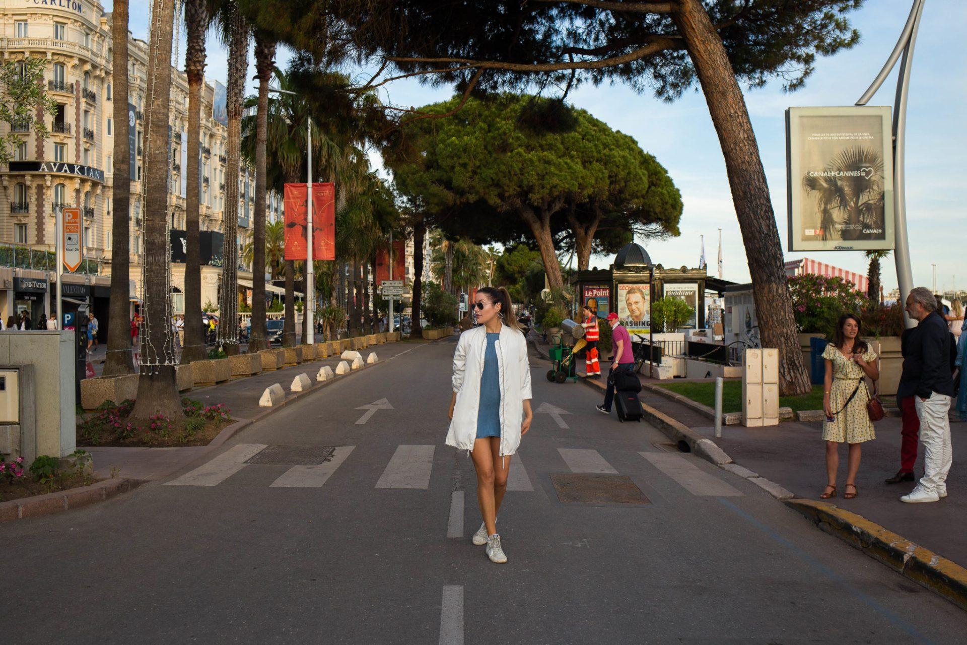 Promenade de la Croisette Cannes in May on the French Riviera