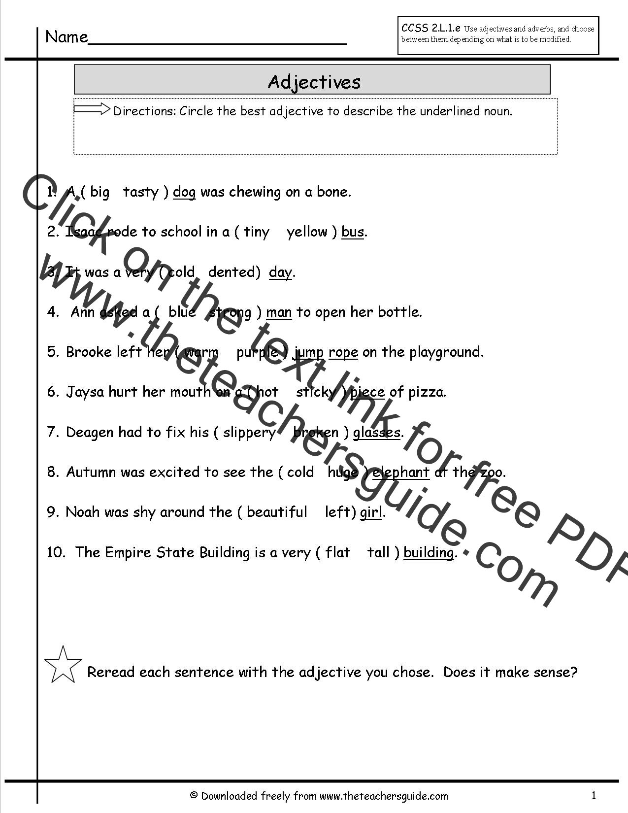 Free Grammar And Language Arts From The Teacher S Guide