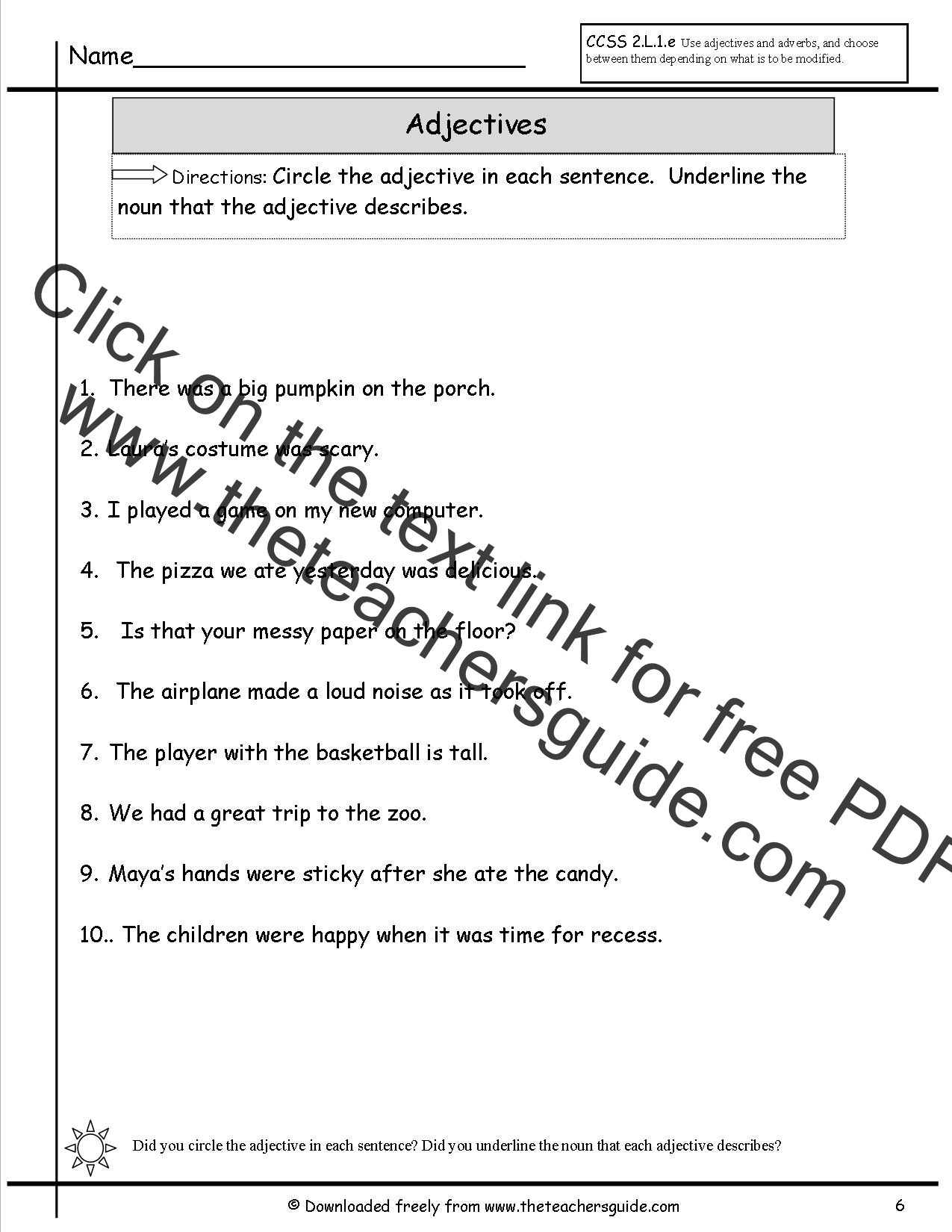 Search Results For Circle Underline Verb Noun Worksheet