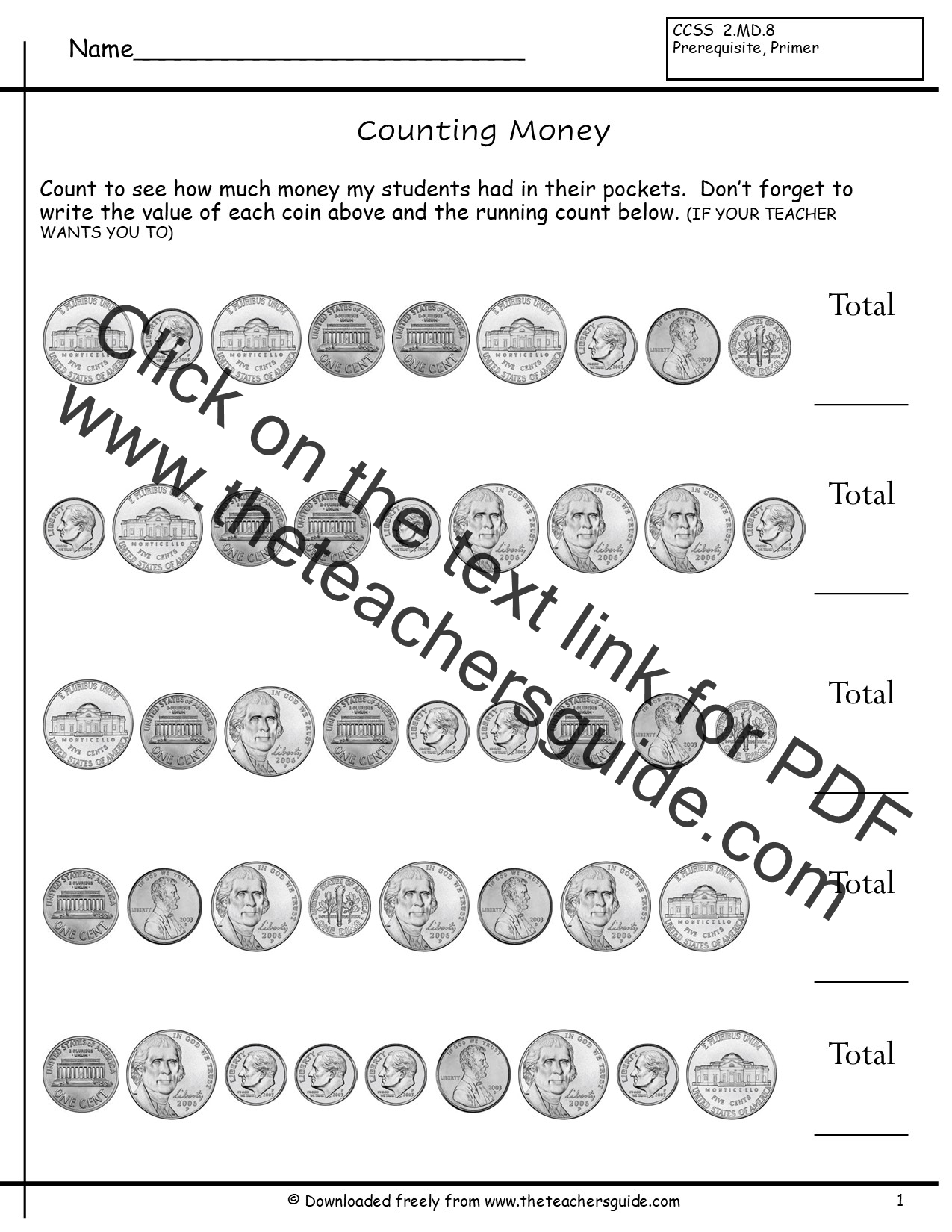 New 196 Worksheet Counting Like Coins