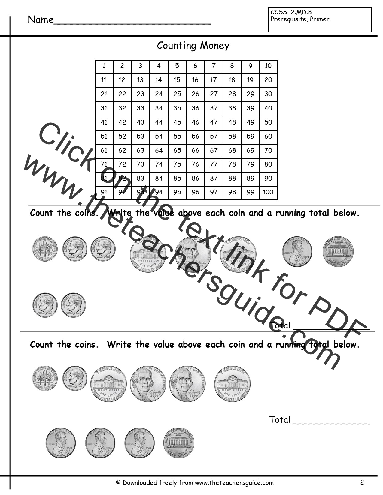 Bug Counting Worksheet