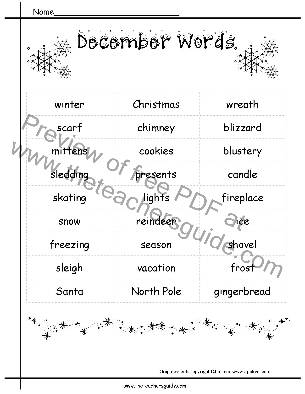 December Holidays Lesson Plans And Themes
