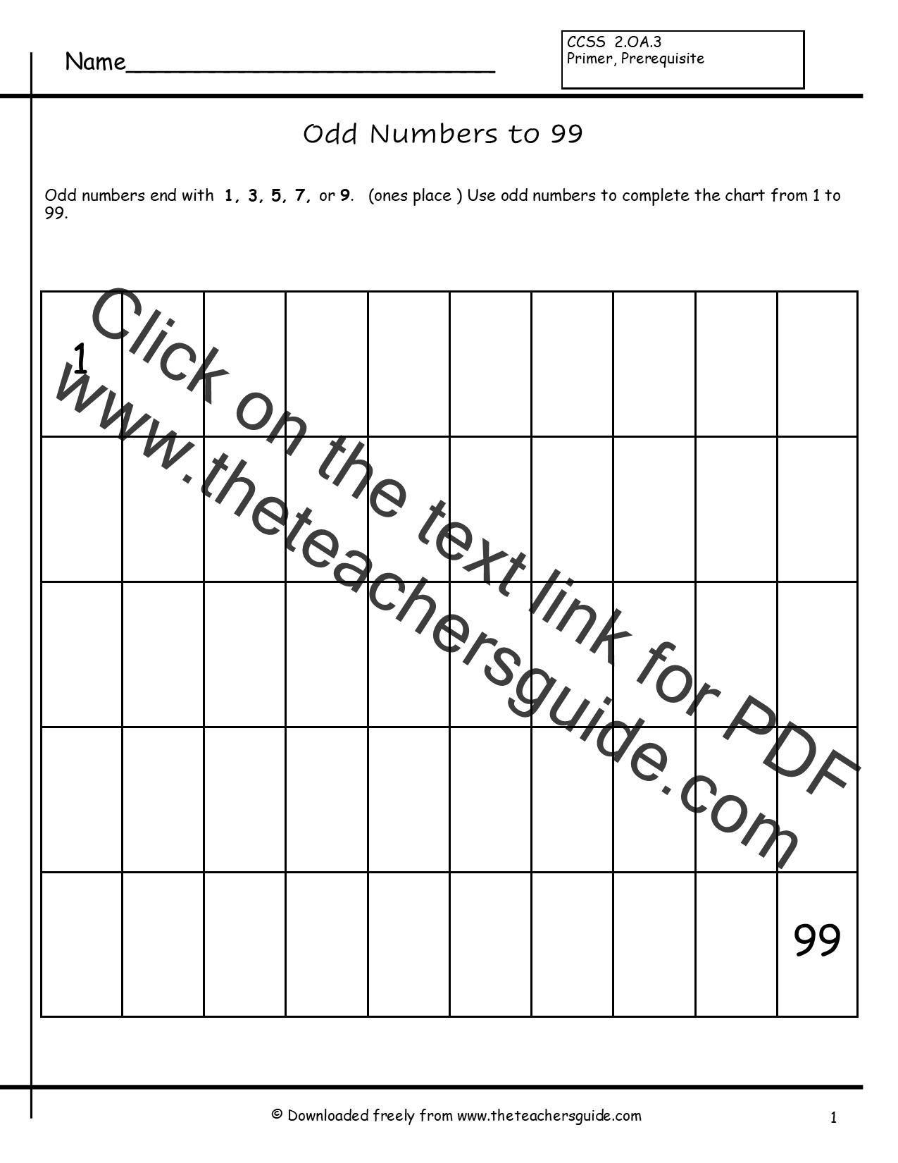 Even And Odd Numbers Worksheets From The Teacher S Guide