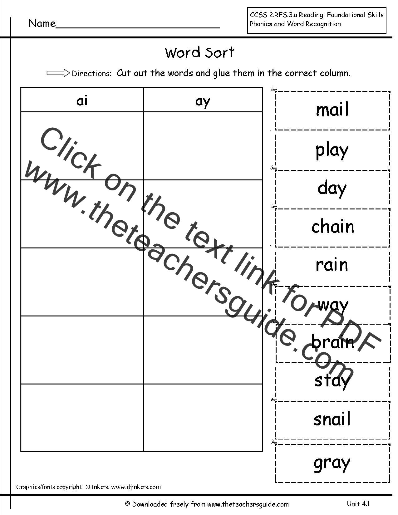 Wonders First Grade Unit Four Week One Printouts